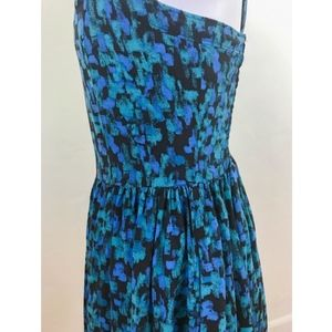 Frenchi Dresses - Frenchi Blue and Green Printed Rayon Dress